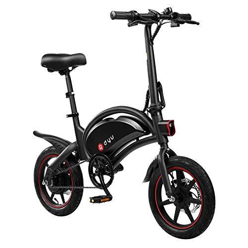 AmazeFan DYU D3F vélo électrique Pliant, vélo Intelligent pour Adultes, vélo en Alliage d'aluminium 240W Batterie Lithium-ION Amovible 36V / 10Ah avec 3 Modes de Conduite