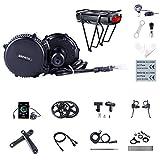 Kit Mid Drive BBS02B 48V 750W Kit Moteur électrique vélo pour Conversion Ebike (Batterie pour Cadre de vélo: 48V 17.5Ah, Compteurs vélo: C18, Couronne: 44T)