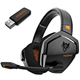 NUBWO G06 Wireless Gaming Headset for PS5, PS4, PC, Noise Cancelling Over Ear Gaming Headphones with Mic, 2.4GHz Ultra-Low Latency, Soft Memory Earmuffs, Wired Mode for Xbox One, Xbox Series X Games