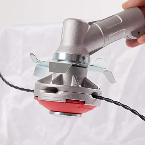 Testina decespugliatore universale rovo sfalcio erba rovi professionale + disco antiavvolgimento erba (filo elifly)