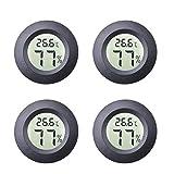 4-Pack Mini Hygromètre Intérieur Rond Thermomètre Mètres Celsius ou...