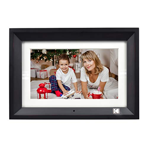 KODAK 10 inch Wood Digital Photo Frame Easy to Operate with Remote Control