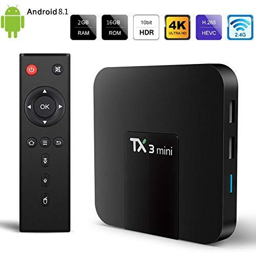 Android TV Box TX3 Mini Android 8.1 (2GB RAM + 16GB ROM) S905W Quad-core Cortex-A53 with WiFi 2.4GHz 100M LAN / H.265 4K Ultra HD TV Box by ZMQC