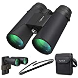 Kylietech 12X42 Binoculars for Adults with Universal Phone Adapter, HD Waterproof Fogproof Compact Binoculars for Bird Watching, Hunting, Hiking, Sports, and Concerts with BAK4 Prism FMC Lens
