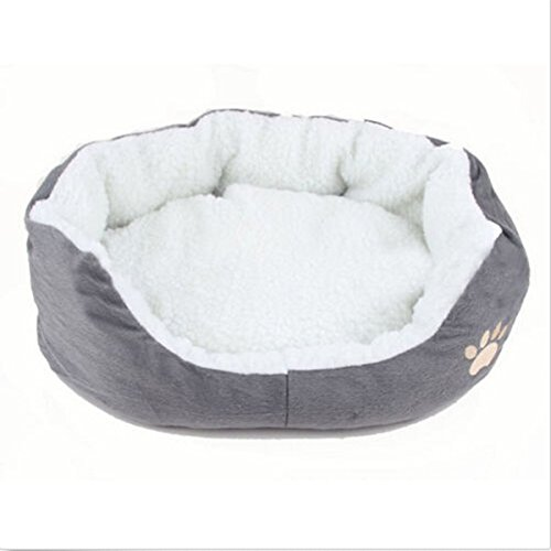 Cuccia rotonda o ovale in pile per gatto o cane di piccola taglia (Ash)