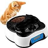 pedy 2 in 1 Futterautomat Katze, Hund Automatischer Futterspender Pet Feeder mit...