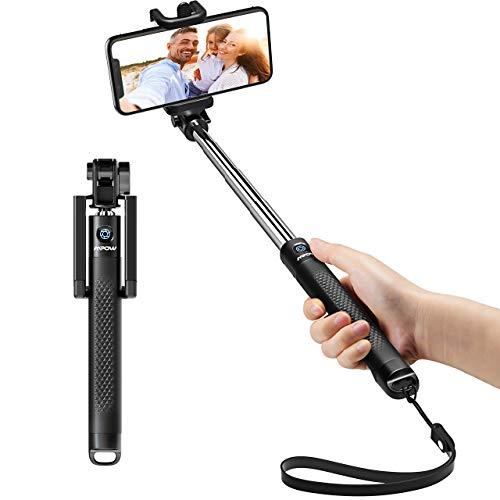 Mpow Perche Selfie Bluetooth, Selfie Stick Extensible de Poche/Bton Selfie...