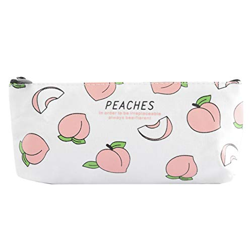 vi. Yo Pencil Case, cute Peach portapenne cancelleria con grande capacità di pratica cancelleria...