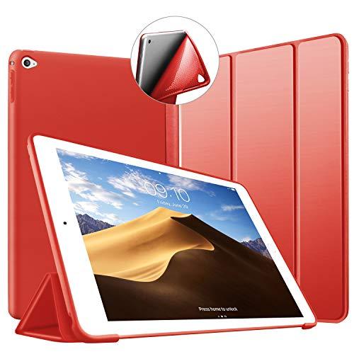 Cover iPad Mini 4, VAGHVEO Custodia Ultra Sottile e Leggere [Auto Svegliati/Sonno] con Morbido TPU Soft Bumper Smart Cover Case per Apple iPad 4 MINI Modelli A1538 / A1550, Rosso