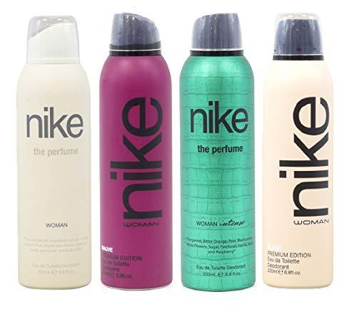 Nike Women Deo Set 4x200ml (Intense/The Perfume Woman/Blush/Muave)