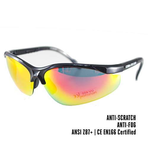 Cobra | lunette de protection airsoft, tir sportif | lunette de sécurité | lunette tactique militaire | verre ultra-résistant, anti-buée et...