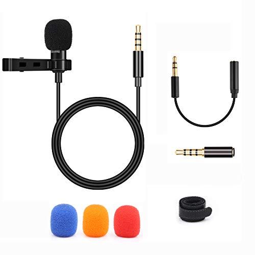 BIFY Lavalier Mikrofon für Smartphoneund PC, 2 Adaptern,für iPhone, Android Smartphone,mikrofon für smartphone,PC