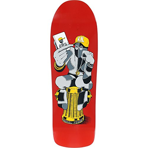 Powell Peralta Ray Barbee Hydrant Red Old School Skateboard Deck - 9.75' x 31.87'