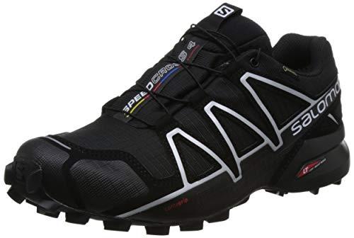 Salomon Men's Trail Running Shoes, SPEEDCROSS 4 GTX, Colour: Black/Black/Silver Metallic-X, Size: UK - Size 7