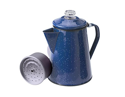 GSI Outdoors 8 Cup Enamelware Percolator for Coffee at Home or...