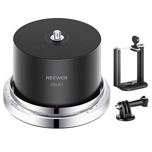 Neewer PBH01 Testa Panoramica 360° 120±6 Minuti per Time Lapse Stabilizzatore Compatibile con Mirrorless Gopro SJCam Action Cam DJI iPhone Samgsung Smartphone da Massimo 500g