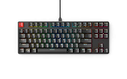 Glorious Modular Mechanical Gaming Keyboard - TENKEYLESS (87 Key) - RGB LED Backlit, Brown Switches, Hot Swap Switches (GMMK-TKL-BRN)