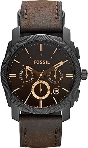 Fossil Orologio Cronografo Quarzo Uomo con Cinturino in Pelle FS4656