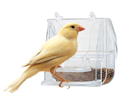 Ferplast 84522724 Futternapf Pretty 4522 für Vögel, Maße: 9 x 9 x 9 cm, transparent