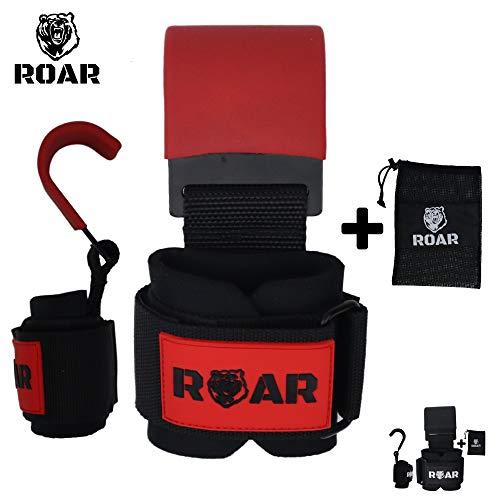 Roar® Ganchos de Metal para Levantamiento de Peso con Parra, Agarres...