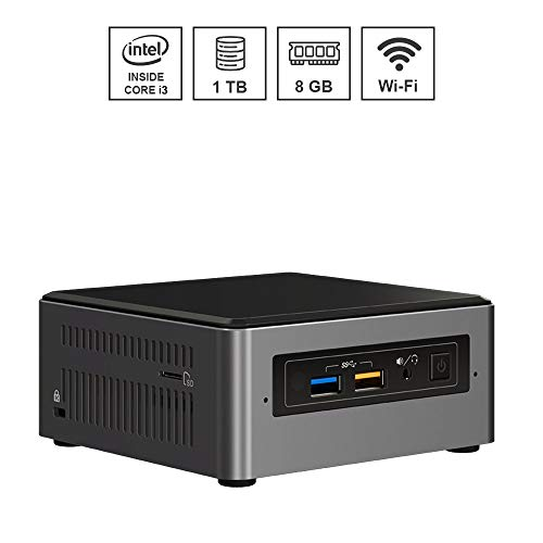 DILC Nuc Silver Mini Pc Desktop Intel I3-7100U 3.00 ghz Ram 8gb Hard Disk 1 tb WiFi Bluetooth Licenza Windows 10 PRO