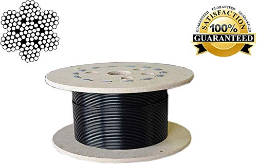 B FIT Gym Wire Rope, PU Coated Cable 6 MM Thickness (10 Meter, 6 MM)