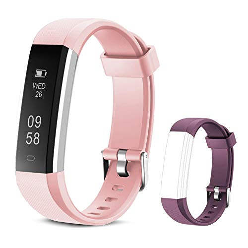 JIUXI Fitness Tracker Watch Activity Tracker Waterproof with Pedometer Sleep Monitor, Smart Bracelet Wristband for Women Kids Men, Smart Watch Include Replacement Band for Android & iOS