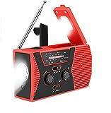 swonuk Radio Solaire Portable, Main Manivelle Self Powered AM/FM/NOAA...