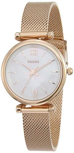 Fossil Damen Analog Quarz Uhr mit Edelstahl Armband ES4433
