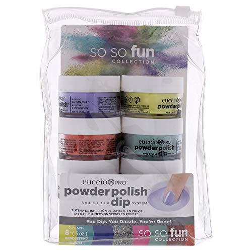 Cuccio So So Fun Kit - Powder Polish Dip System (8 pack) 0.5 oz