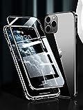 アイホン12プロ ケース iPhone 12 対応 Uovon スマホケース アルミバンパー 両面ガラス マグネ……