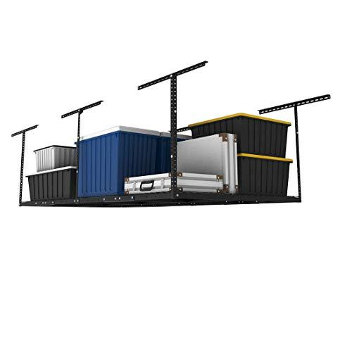 FLEXIMOUNTS 4x8 Overhead Garage Storage Rack Adjustable Ceiling Garage Rack Heavy Duty, 96' Length x...