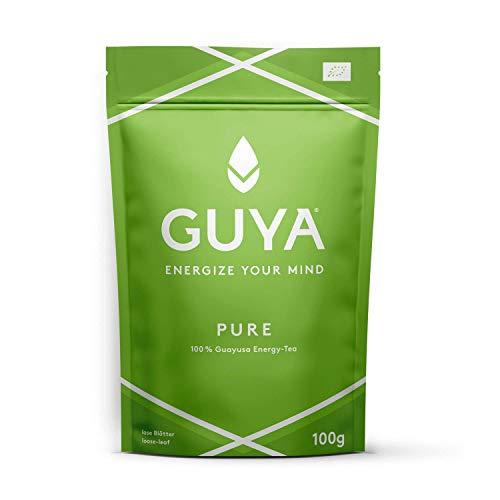 Bio Guayusa Tee lose (Pure, 100% Guayusa)   100g für 40 Tassen   Kaffee Alternative ohne Herzrasen   Mehr Fokus, Konzentration, Gedächtnisleistung & Ausdauer   Natürliches Koffein & L-Theanin