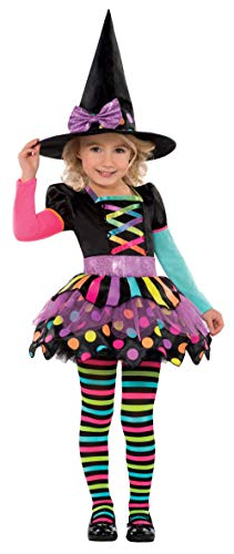 amscan 996994 Girls Miss Matched Witch Halloween Fancy Dress Costume Age 3-4 Years