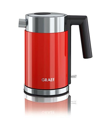 Graef WK403EU WK 403 Edelstahlwasserkocher, Edelstahl, 1 Liter, Rot