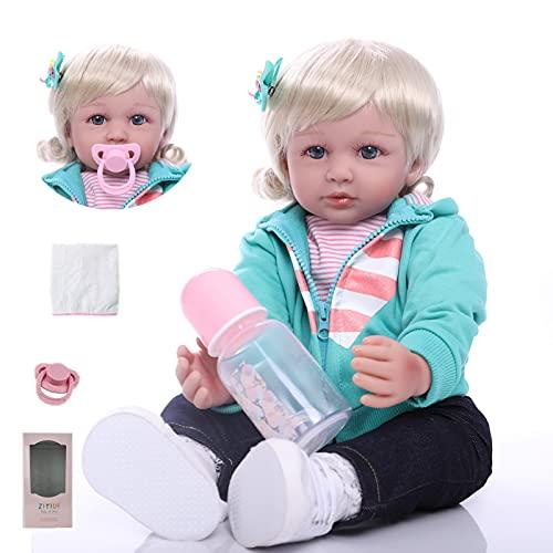 ZIYIUI 24 Pollici Bambino Reborn Bambole in Silicone Morbido Bambola 60 Centimetri Reborn Femmine Cheap Bambola Reborn Baby Toddler Giocattolo