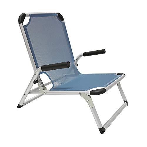 Homecall Klappbarer Strandstuhl aus Aluminium - (Blau)