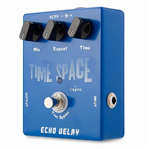 LiChaoWen Guitars Effectors Digital Delay 600ms Max Effect CP-17 Time Space Echo Delay Guitar Effects Pedal (Color : Blue, Size : One size)