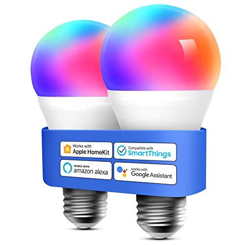 Bombilla LED Multicolor Inteligente WiFi - Regulable, Mando a...