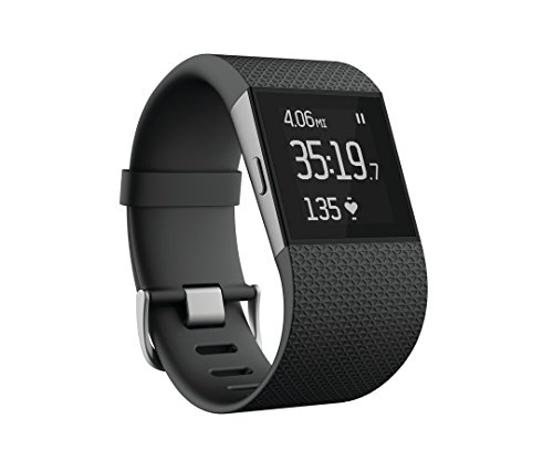 Fitbit Surge Fitness Superwatch, Black, Large (US Version)
