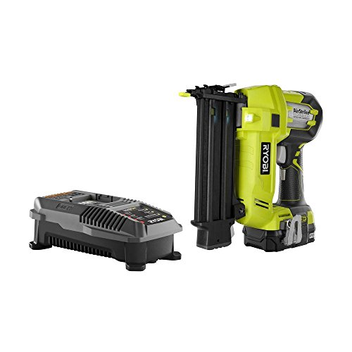 Ryobi P854 ONE Plus 18V Cordless Lithium-Ion 2 in. Brad Nailer Kit (One Battery & Charger included)