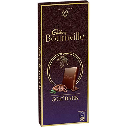 Cadbury Bournville Rich Cocoa Dark Chocolate Bar, 80 gm (Pack of 5)