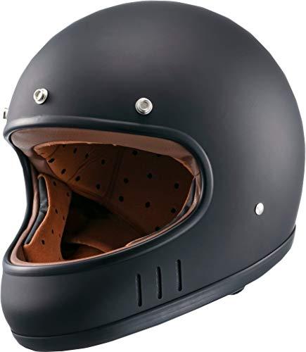 マルシン(MARUSHIN) バイクヘルメット ネオレトロ フルフェイス DRILL (ドリル) マットブラック Mサイズ (57-58cm) MNF2 02002324