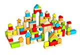 Fat Brain Toys 100 pc Block Set - Timber Blocks - 100 Piece Wooden Block Set Baby Toys & Gifts for...