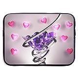 N / A Bolsa De Neopreno,Maletín Funda,Fundas Blandas para Tablets,Ordenador Portátil Caso,Copa De Vino Amor Corazón Bolsillo para Computadora Portátil,Bolsa Protectora para Tableta 15 Inch