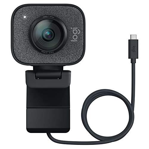 ロジクール ウェブカメラ フルHD 1080P 60FPS ストリーミング ウェブカム AI オートフォーカス 自動露出補正 自動ブレ補正 ストリームカム StreamCam C980GR グラファイト USB-C接続 国内正規品 2年間メーカー保証