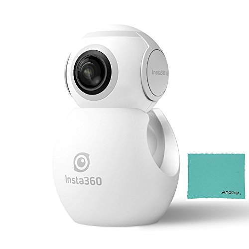 Insta360 Air ミニ パノラマカメラ 360度3K HDカメラ デュアル 210° 広角魚眼レンズ 全景カメラ VRモード Type-C機器対応 OPPO R9 Huawei P9 Mate9 LG V20など Andriod スマートフォン用 (ホワイト)