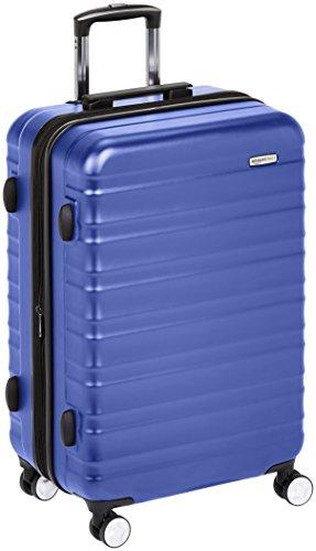 Amazon Basics - Trolley rigido Premium con rotelle pivotanti e lucchetto TSA integrato - 78 cm, Blu