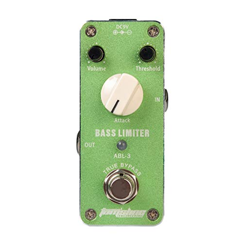 Almencla Electric Bass Guitar Effect Pedal Bass Limiter True Bypass 9x4x4.8cm for Stage Performance