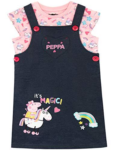 Peppa Pig Set de Overol para Niñas Unicornio Multicolor 2-3